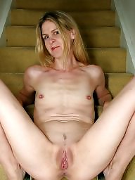 Wide open, Blonde, Mature, Mature blonde, Wide, Milf