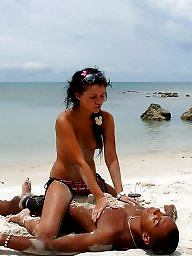 Mature beach, Nude beach, Mature blowjob