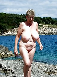 Mature beach, Granny beach, Granny boobs, Granny