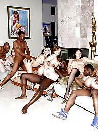 Jerking, Bisexual, Interracial