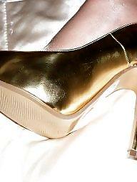 Mature heels, Mature mistress, Heels, Mistress, Gold, Milf skirt