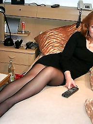 Mature dress, Mature stockings, Dress, Dressed