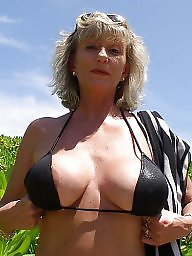 Granny, Beach, Mature, Granny beach, Mature beach, Big boobs