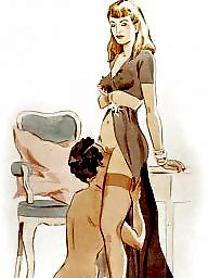 Femdom cartoon, Femdom, Femdom cartoons, Cartoon, Stockings, Cartoons