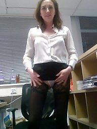 Office, Stocking milf, Marie