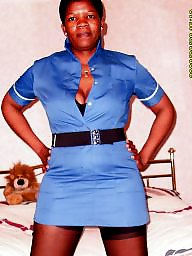 Ebony stockings, Nurse, Black stockings