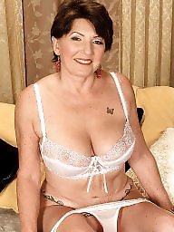 Grandmas, Mature big tits, Mature tits, Grandma, Mature stockings, Mature boobs