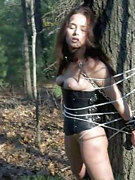 Milf bdsm, Tied, Outdoor bdsm, Outdoor