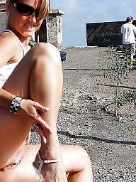 Mature posing, Mature public, Mature outdoors, Outdoor, Public mature, Posing
