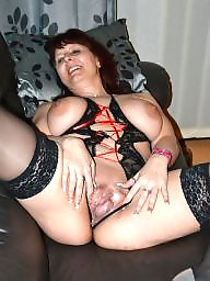 Stocking milf, Black stockings, Black milf, Mature boobs, Mature stockings, One piece