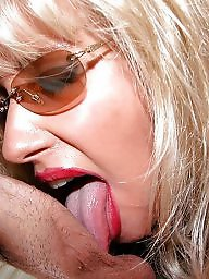 Nylon, Mature blonde, Mature blowjob, Handjobs, Blonde mature