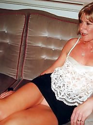 Blond mature, Upskirt, Mature blonde