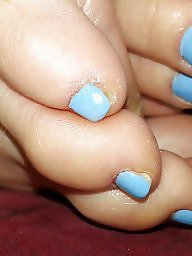 Toes wife, Wife toes, Wife toe, Nice wife, Nice toes, Blue toes