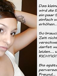 German captions, Femdom caption, German, Captions, Femdom captions, Caption