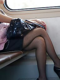 Voyeur, Hidden, Hidden cam, Train, Sexy, Legs
