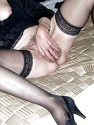Mature stockings, Upskirt