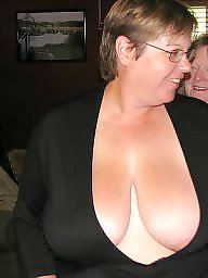 Mature cleavage busty blonde