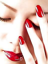 Red lips, Red lip, Red nails, Red nail, Nail, Lips red