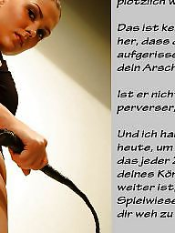 Femdom caption, Captions, Femdom, German, German captions, German caption