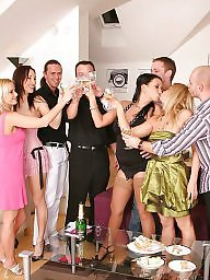 Group, Mature party, Mature, Cougar, At work, Group sex