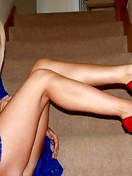 Heels, Legs, Mature upskirt, Upskirt