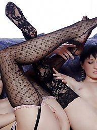 Lesbians, Lingerie, Teen stockings