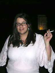 Smoking, Bbw wife, Smoke, Naked