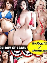 Holiday boobs, Big happy boobs, Happy holiday, Holiday brunette, Brunette big ass, Big ass brunette