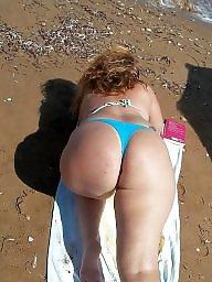 Mature beach, Chubby mature