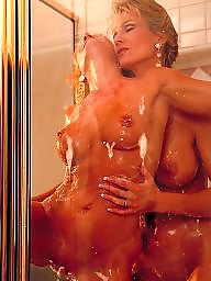 Mature lesbians, Mature shower