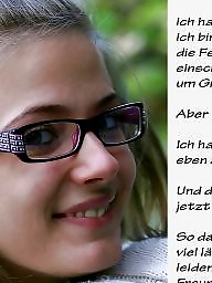 German caption, German captions, Femdom captions, Femdom caption, German, Teen caption