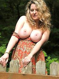 Busty amateur, Woods