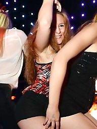 clubs night Upskirt russian