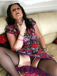 Upskirt stockings, Secretary, Mature stocking, Mature stockings, Upskirt mature, Old