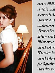German caption, Femdom caption, German captions, Femdom captions