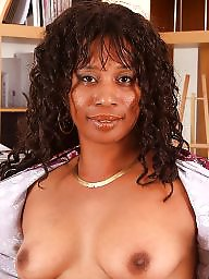 Secretary, Ejaculation, Naked, Mature naked, Ebony mature