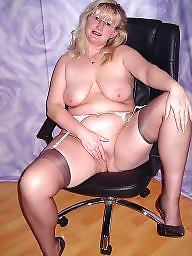 Mature lingerie, Glasses, Bbw pussy, Mature spreading