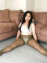 over Asian panties pantyhose