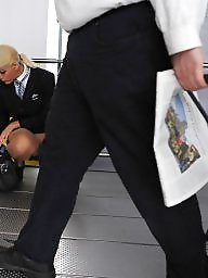 Upskirt stockings, Stockings upskirt, Stewardess, Hostess, Upskirt