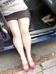 Upskirt, Heels, Outdoor