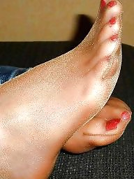 Aunt, Nylonfeet, Old, Stocking milf, My aunt
