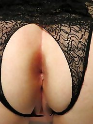 Mature women in crotchless panties