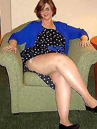 Pantyhose, Granny stockings, Grannies, Mature stockings, Heels, Nylons