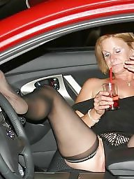 Mature posing, My wife, Wife posing, Mature slut, Car, Pose