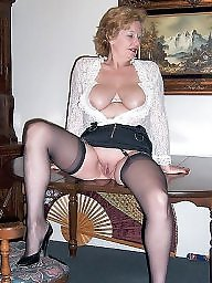 granny spreads pantyhose naked