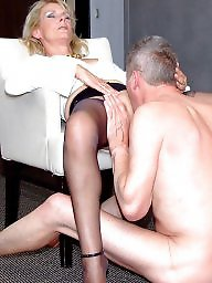 Old, Old young, Femdom, Young old, Young, Stocking