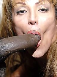 Mature interracial, Sucking, Black cock, Hot milf, Cock, Black mature