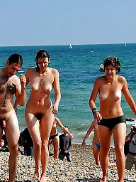 Group, Public, Naked, Girl