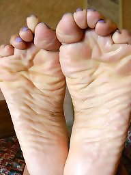 Feet, Mature feet, Ebony mature