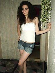 Curly, Leggings, Teen leggings, Long legs, Teen legs, Legs